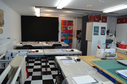 Studio converted to class room