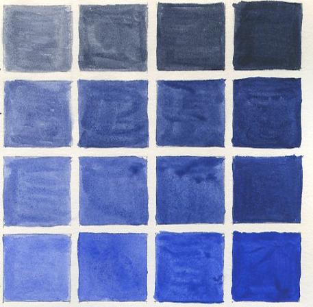 Blue Monochromatic Color Scheme decyphering design: part v b – color continued | anna hergert, art