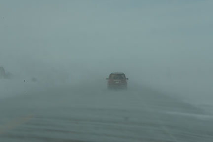 The first day of Spring in south central Saskatchewan - driving Hwy # 2 from Moose Jaw at 4 p. m.