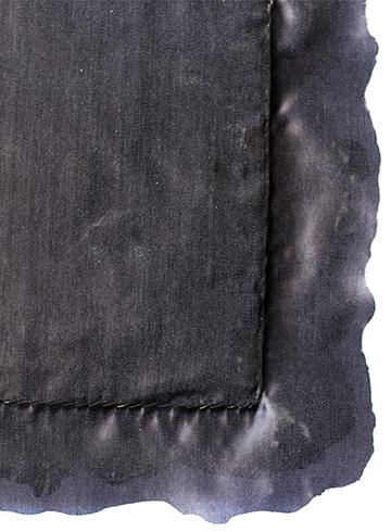 Burned edges back view