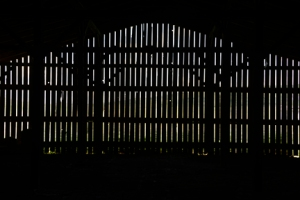 This wall was at the end of the concession barn - the late afternoon sun pushing in to the cool darkness.