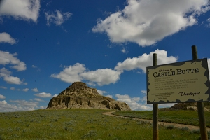 Castle Butte with sign
