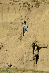 climbing Castle Butte