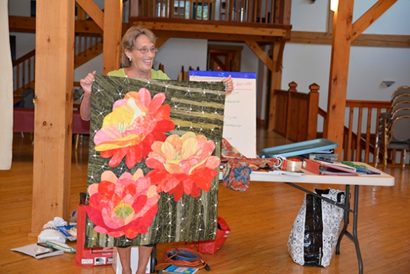 Cheryl came all the way from Colorado to join us. She is an accomplished art quilter.