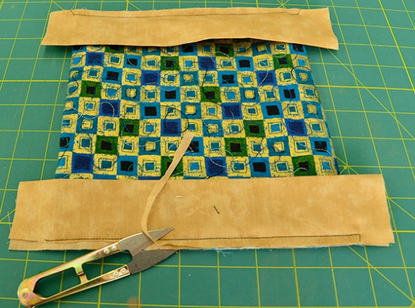 Step 16: Trim away the fabric (as in step 7).