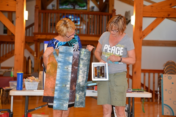 "Alison (right) is sharing ""Last Summer at Emma Lake"", a piece she began in 2012 at Kenderdine Campus, Emma Lake in my last summer workshop."