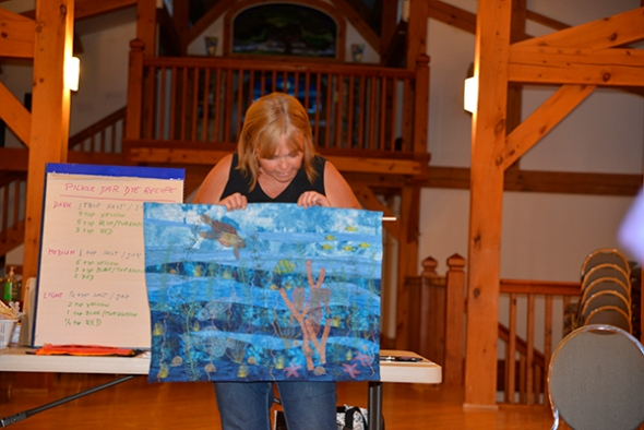 Shirley brought along an array of new work to share during Show and Tell Monday night.