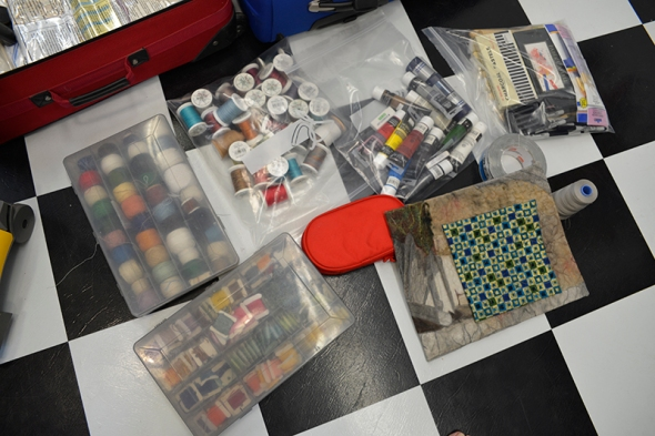 Threads, paints, and samples - they all fit easily now!