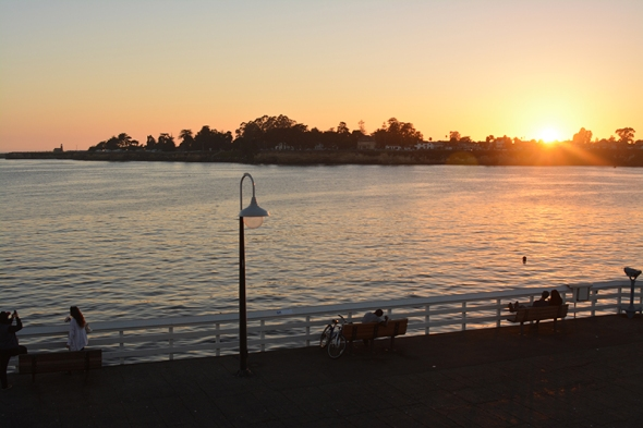 Sunset at Santa Cruz Pier