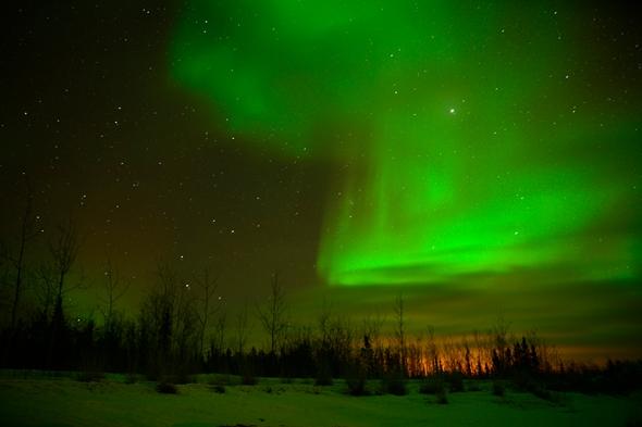 Aurora Borealis first glimpse