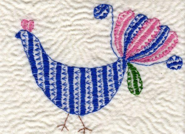Anna Hergert Kantha bird image