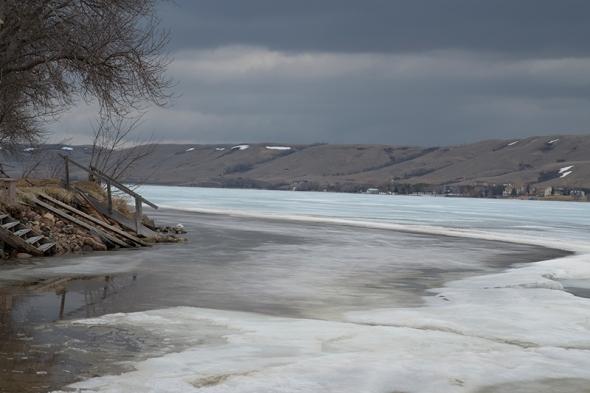 Ice receding