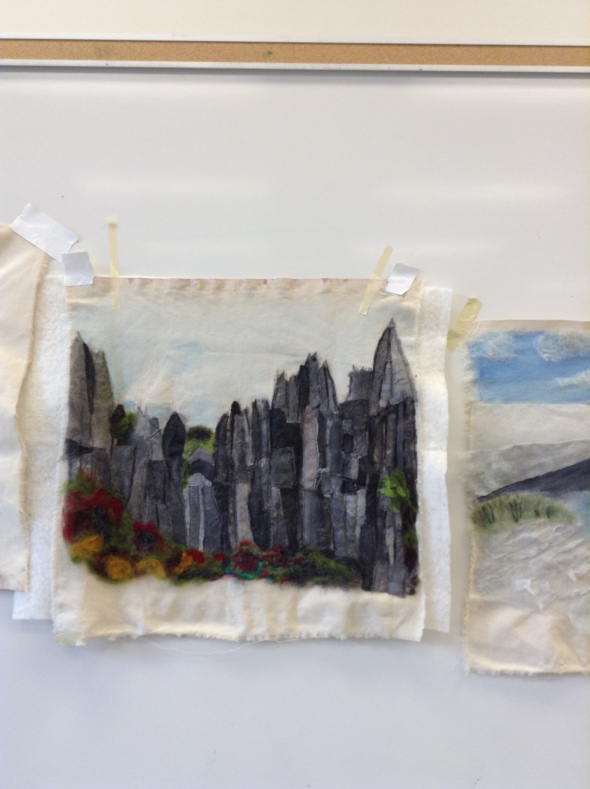 ...the pictorial quilts began to emerge by day two of the workshop.