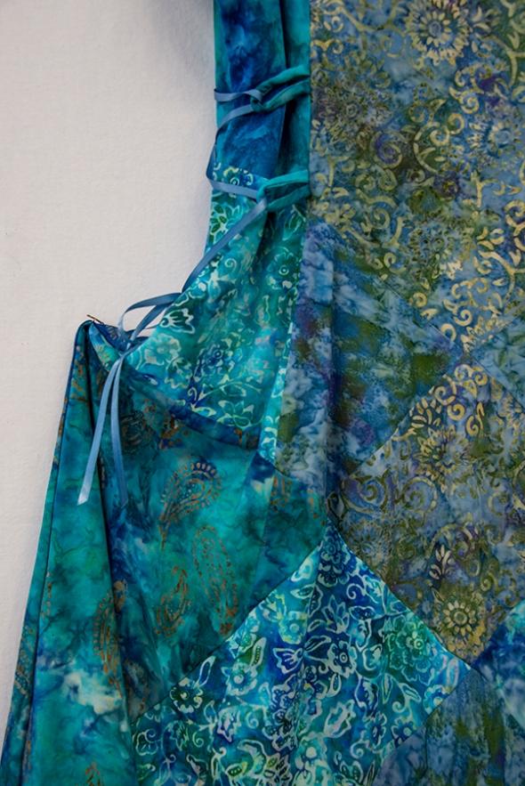 batik dress detail