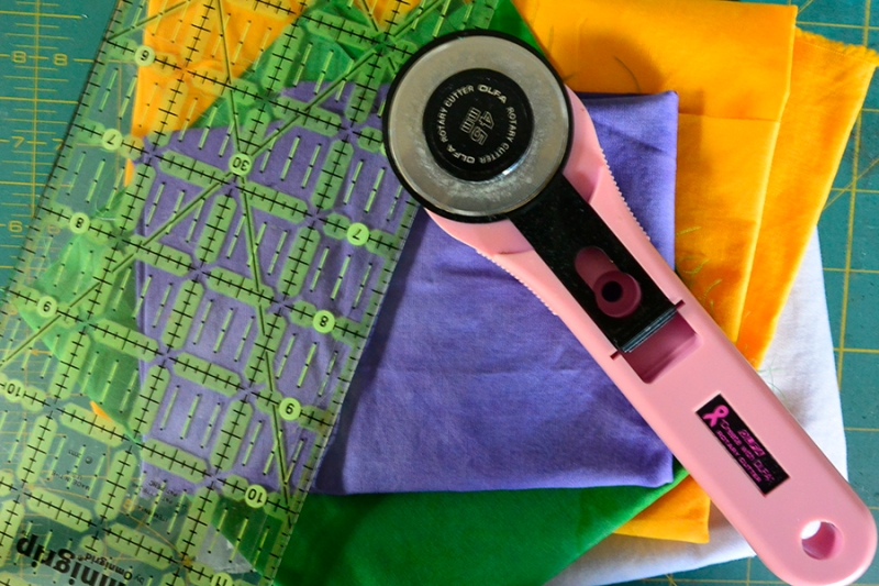 fabrics and cutter