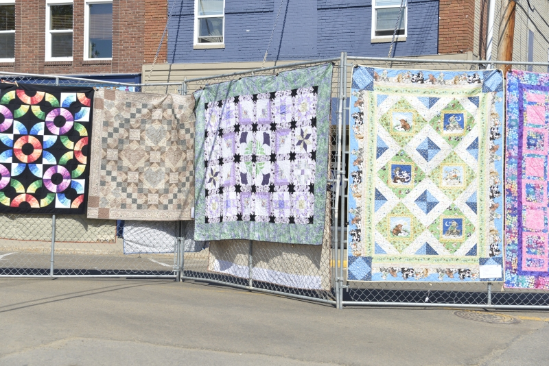 Quilts in Downtown Drumheller July 2014 - Can't wait to experience the event this year!