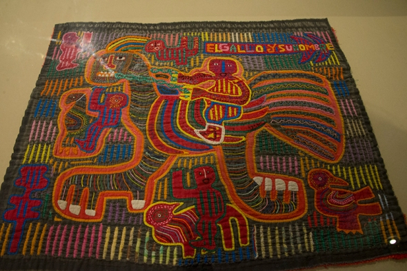 Only last week I welcomed 25 participants to my Mola workshop in Manchester at World Quilt. It was my turn to be mesmerized and admire several authentic and very intricate Molas from the San Blas Islands.