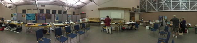It's past 9 pm and the classroom is slowly clearing!