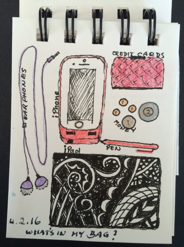 "And then came the ""draw the contents of your purse"" challenge."