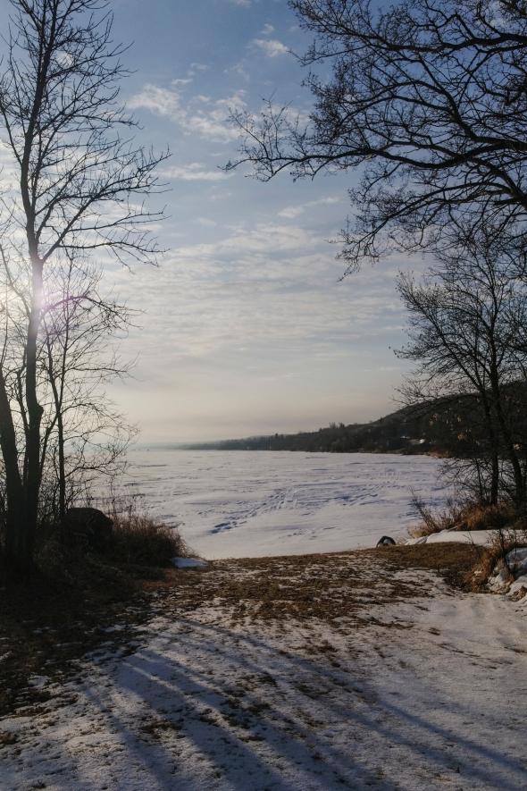 This morning's lake vista at 0 C - Spring might be on its way...